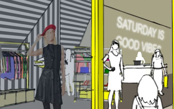 Kate Spade Saturday Storefront Concept